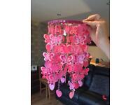 Pink Butterfly light chandelier