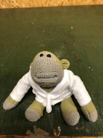 Pg tips monkey soft toy with dressing gown