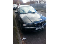 Bmw 320d,04/2001,Black,alloy wheels,steering wheel,M sport.