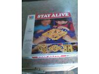 Stay Alive, retro board game.