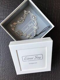 Linzi Jay Crystal Embellished Bridal Brow / Head Band for Wedding Dress