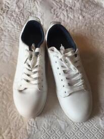 Ladies white size 8 Asda trainers (never worn)