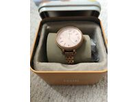 Fossil rose gold watch only worn twice