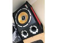 "VIBE Black AIR VENTED 12"" 1600W - BUILT IN AMP"