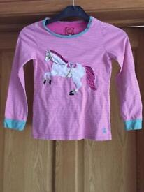 Girls joules long sleeve top age 7 age