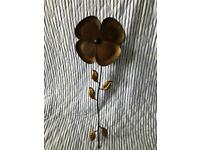Bronzed Metal Flower Wall Art