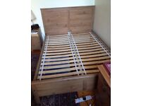 IKEA ASPELUND DOUBLE BED FRAME (INCLUDES MIDBEAM AND SLATS) Good Condition