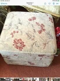 Red and cream ottoman with storage was £199 new