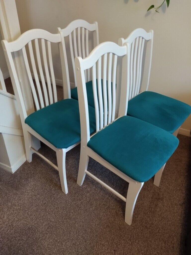 Brilliant White Chairs Set Of 4 In Brandon Suffolk Gumtree Ibusinesslaw Wood Chair Design Ideas Ibusinesslaworg