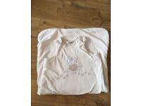 First Wish baby Sleeping Bag / Grobag, 18-36 months, cream velour with teddies