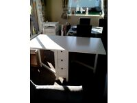 Ikea Norden Dining Table and Terje Folding Chairs (6) in White