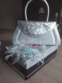 Saatchi Matching Handbag, Shoes (5 1/2)) & Fascinator