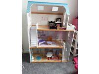 KidKraft large wooden Dolls House - suits Barbie / Monster High / Bratz size dolls