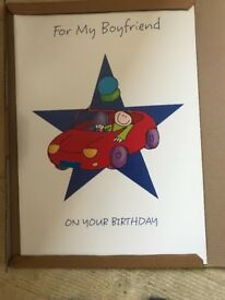 Giant boxes birthday card (45cm x 63cm)