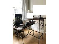 Sitting-standing desk combo