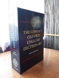 The Compact Oxford English Dictionary in untouched condition .
