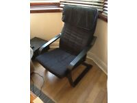 Black IKEA Poang Chair-- Great condition