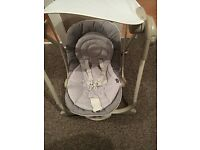 Chicco baby swing grey