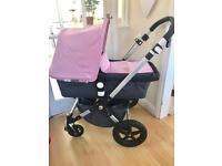 Bugaboo cameleon 3 with footmuff pink or sand