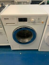 Miele white good looking 8kg washing machine