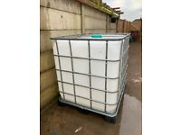 IBC Tank, 1000 Litre Container USED - Ideal for a Water butt