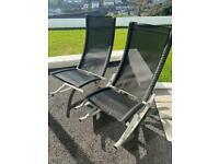 Two Rocker garden sun chairs by Sun Time