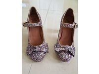 Red or Dead glittery heels size 6