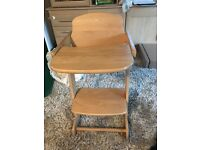 Childs High Chair wooden