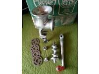 Vintage mincing machine
