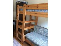Stomper high sleeper bunk bed desk double sofa bed