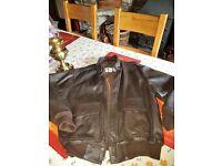 Genuine CIRRUS Top Gun Leather Bomber Jacket