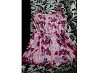 "SIZE 16/18 BRAND NEW STILL SEALED IN PACKET ""LIPSY"" PINK PRINT PLAYSUIT"