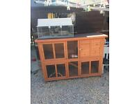 Rabbit Guinea pig hutch and cage