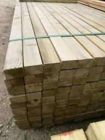 3x2 Tanalised Timber - Eased Edge 4.8mtr Lengths