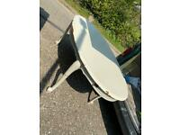 Large solid white wooden table good for upcycle project