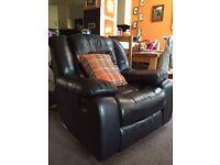 Leather recliner/rocker chair