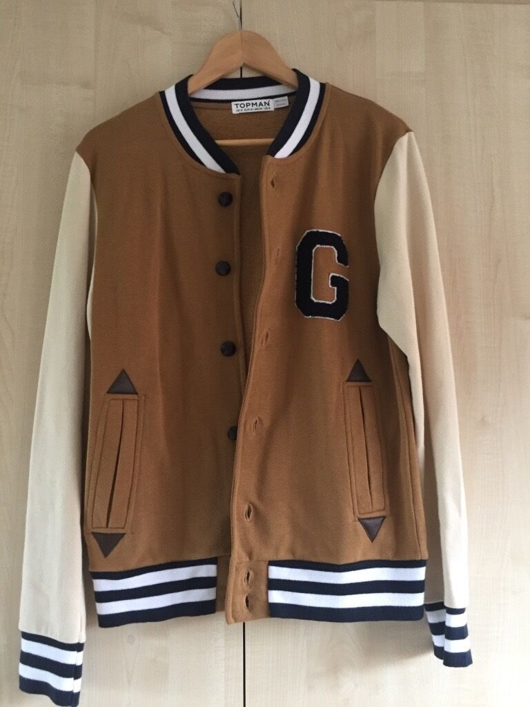 Topman Beige Baseball Jacket | in Hamilton, Leicestershire | Gumtree