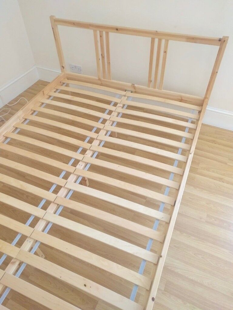 Ikea Tarva Standard Double Bed Frame Pine With Luroy Slatted Bed Base Rrp 135 In Norwood London Gumtree