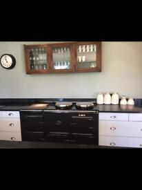 Vintage Wall Glazed Kitchen Cupboard