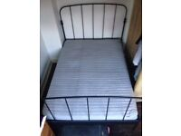 IKEA Lillesand Double Bed Frame and Sultan Mattress