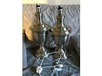 Pair of silver grand lamps
