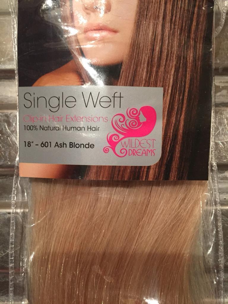 Blonde Hair Extensions Single Weft Real Human Hair In Aylesbury