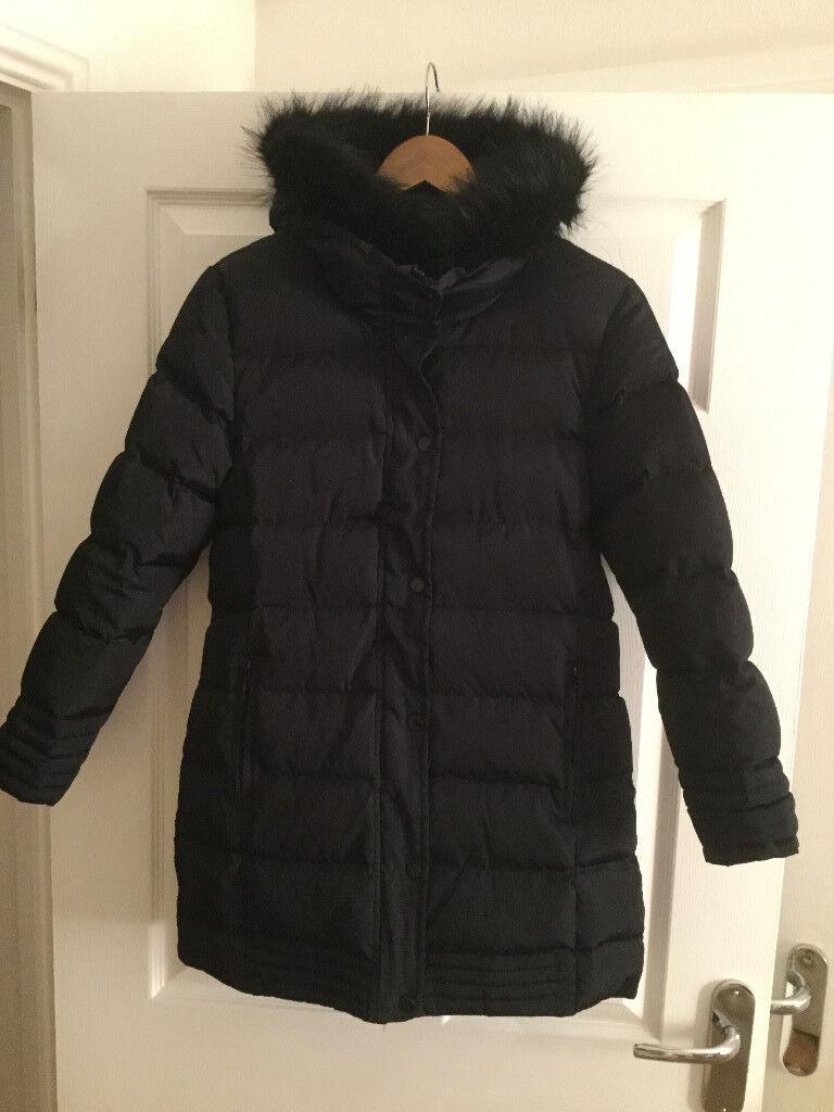 Zara Girls Navy Blue Down Jacket Size 13/14 (164cm)