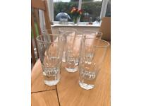 Set of 6 small glasses 12.5cm tall