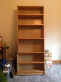 Large Ikea oak veneer book case