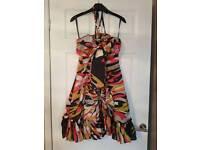 Ted baker size 8 multi colour dress