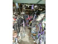 Garage full of bikes