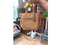 Michael Kors tan/mustard leather handbag