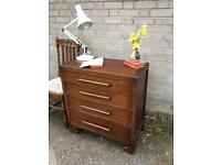 LOVELY VINTAGE ART DECO CHEST OF DRAWERS FREE DELIVERY 🇬🇧