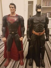 Batman and Superman figure 60cm